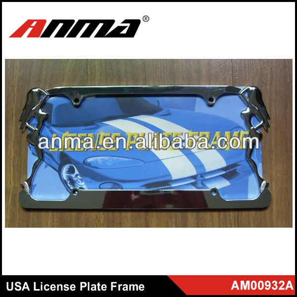 Fashional USA stealth car license plate frame