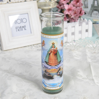 VELA NUESTRA SENORA DE LA CARIDAD Religious Candles In Different Sizes Customize Color Map in Bulk