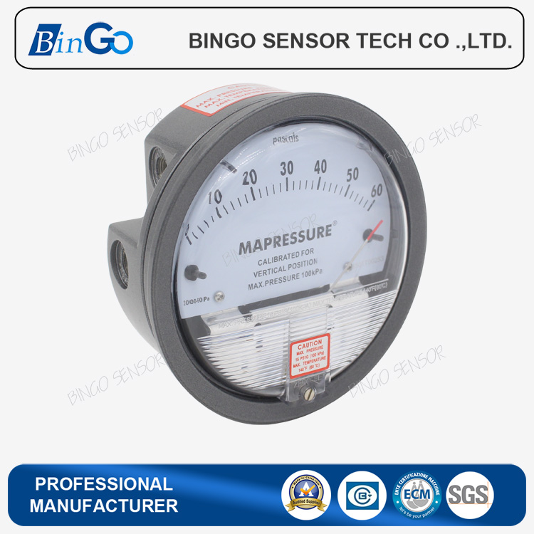 Micro low air differential pressure gauge for fan, air blower ,clean room