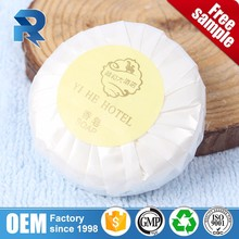 Small paper pleat wrapped beauty bath soap for 3-5 stars hotel