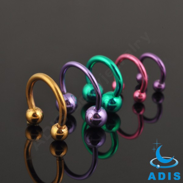 Fashion nose rings piercings jewelry circular horseshoe barbell