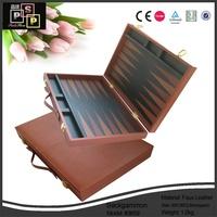 Backgammon Set Leather Case/Travel Game Set,personalized backgammon set
