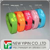 2016 Free sample fashion LED silicone watch/ USB silicone wristband with low price