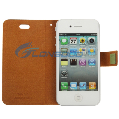 Table Talk Leather Flip Case for iPhone 4 4G 4S (IP4G-052)