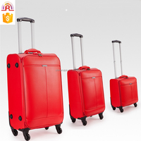 Business Travel Suitcase PU Trolley Luggage