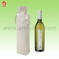 Hot Sale Large Cotton Drawstring Wine Gift Bag
