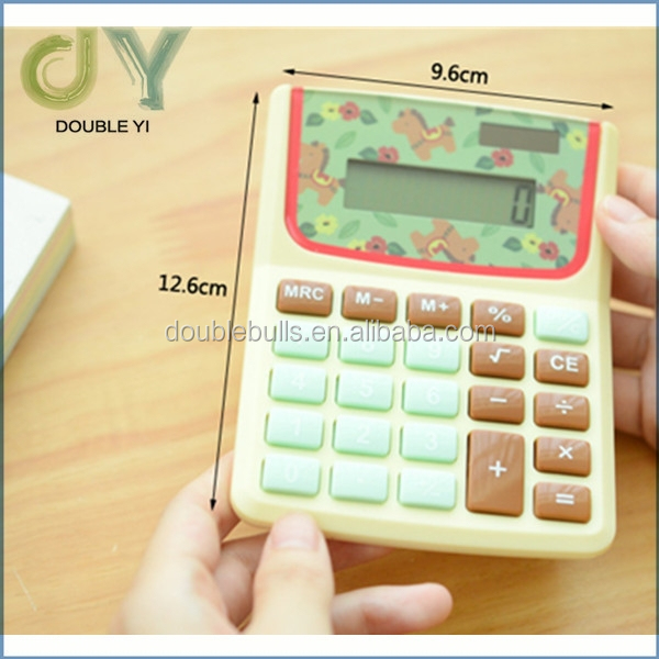 Custom mini pocket size calculator / LCD Screen Display Mini Portable Pocket Clip Calculator