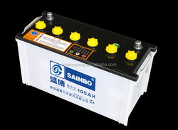 Maintenance Free Car Battery;Good Quality Long Life 105Ah Car Battery;