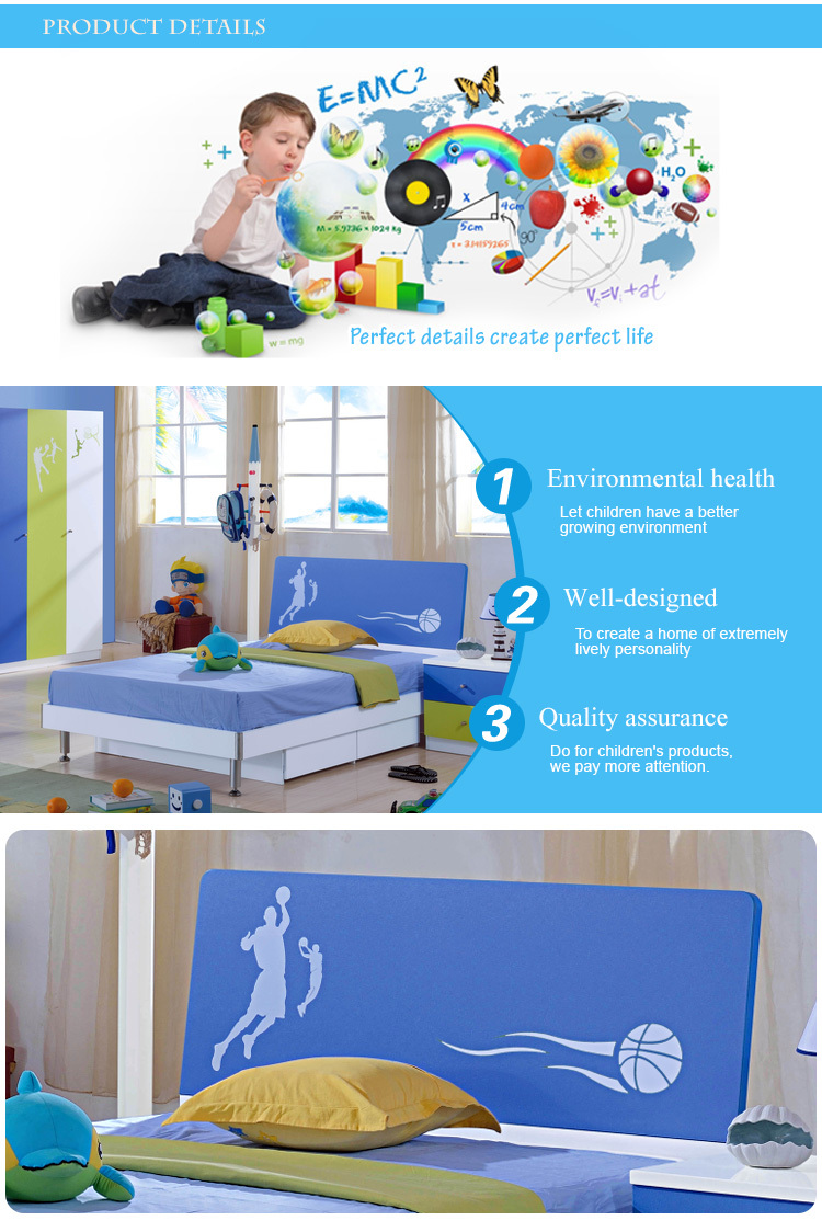 8115# good-looking colourful kids bed/kids double beds/kids beds cheap
