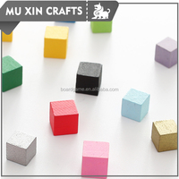 High quality colored wood cubes wooden board game cube
