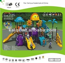 Commercial Play Ground with Slides, Decks, Climber and Lovely Roofs, Animal Series