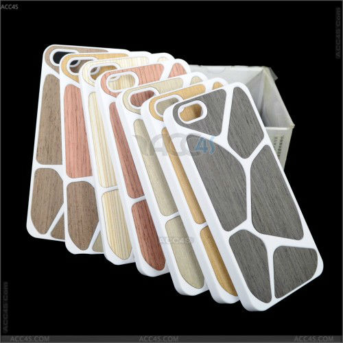 Multi colors Wood Grain Hard Protector Case Cover for iPhone 5 P-IPH5HC031