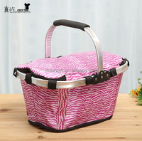 picnic basket for four person tableware outdoor wicker picnic basket