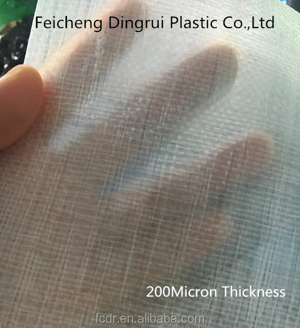 chile customer cherry tarapulin, transparent HDPE tarp