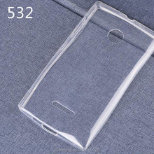 0.6mm Ultra thin Transparent TPU Soft Phone Case for nokia lumia 532/540/720
