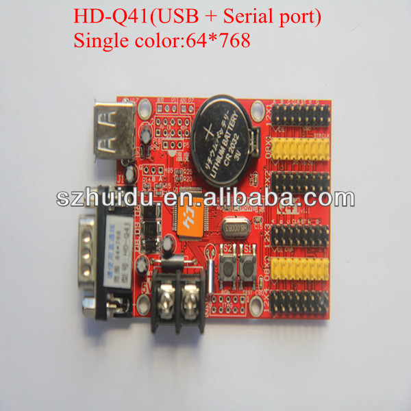 led display controller for led screen module Q41,serial port rs232 and usb port