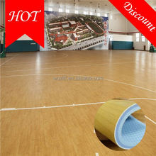 2016 new hot fashion sound proof 100% vinyl / pvc material basketball flooring