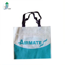 Recycle pp low price non woven shopping bag with handle