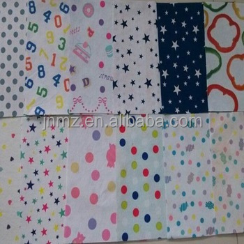 printed pp non woven fabric needle felt