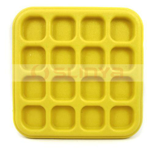 Plastic Mini Cube Proof Water Splash Anti Slip Cup Desk Mat