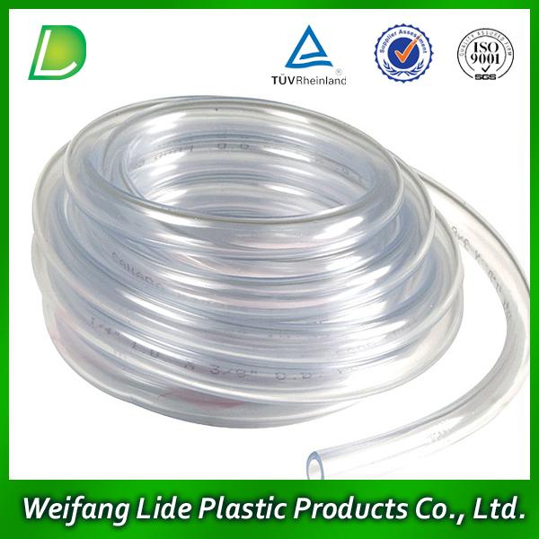 Pvc small diameter plastic tube view