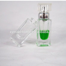15ML mini square shape classic wholesale clear empty spray glass perfume bottle