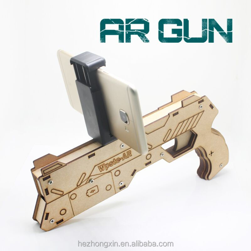 factory price AR Gun distributor wanted Reality Experience woodAR gun game kids toy guns