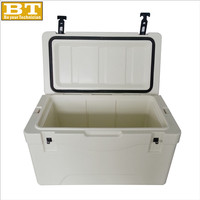 80l Large Plastic Rotomolding Ice Cooler Box For Car Chest