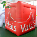 Advertising Logo Customized Inflatable PVC Air Ice Cube Shaped Balloons Model