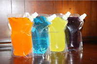 New arrived hottest wine plastic flasks drinks spout bags