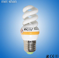 Glass white color lamp 18W small spiral energy saving bulb
