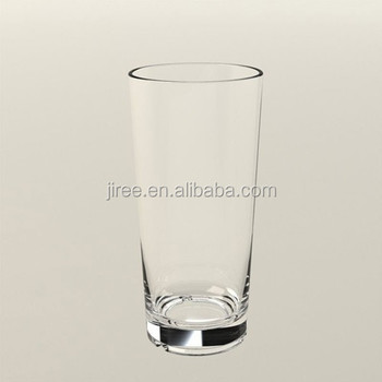 Clear Long Straight Plastic Drinking Cup