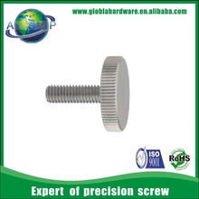china m5 lead pivot tripod custom stainless steel knurled thumb machine screw factory