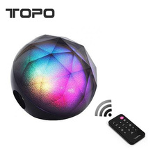 Luxury portable remote control /Support TF Card mini colorful LED color ball 10 Hours Stereo Bluetooth Speaker with usb charger
