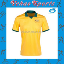 Plain Australia Soccer Jersey with favorable Price and Sublimation