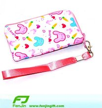 cotton fabric coin purses with strap