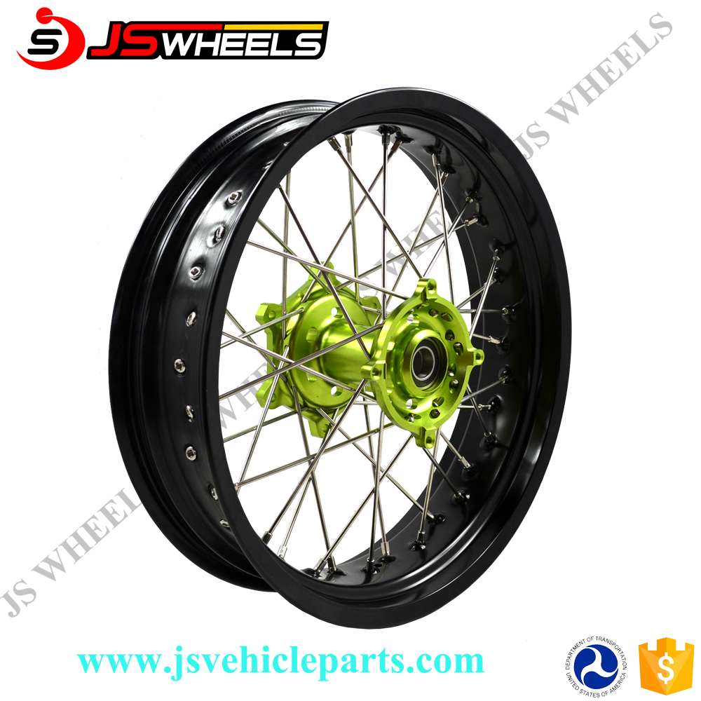 17 Inch KLX650 Custom Motorcycle Aftermarket Rear alloy Wire wheels with Aluminum hubs