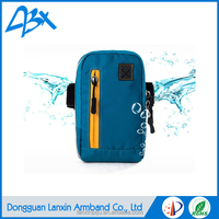 Light blue durable strong lycra fabric sports armband waterproof case for lenovo a7000