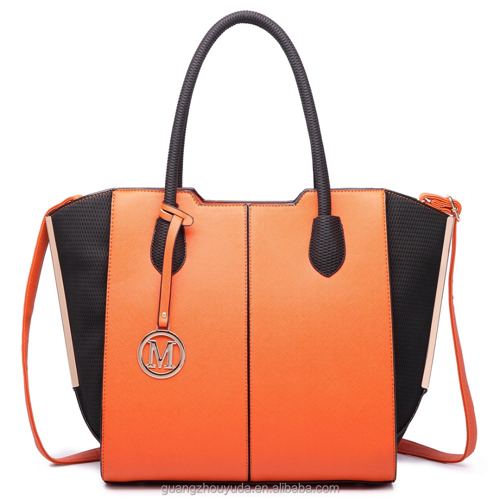 Outgoing Bag LT6625 MISS LULU LADIES LARGE TOTE BAG High Quality FAUX LEATHER Bright Color PU LEATHER BAGS