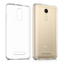 C&T Ultra-thin Silicon Back Cover Clear Plain Clear TPU Rubber Skin Case for XIAOMI RedMI Note 3