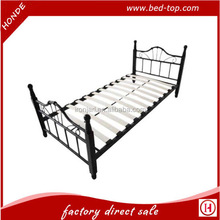Selling Well Low Price Wood Slats Base Metal Single Bed