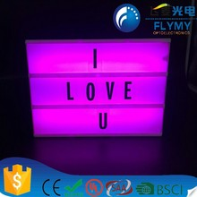 New Color A4 Size Cinema Retro Free Combination Letters Cinematic Custom Diy Led Colour Change Light Box
