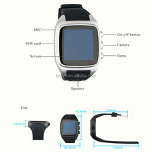 "2015 Hot Android MTK6572 Sport Smart watch phone wristwatch X01 1.54"" Dual Core 512+4GB with heart rate remote control monitor"