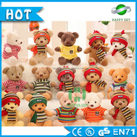Top Quality!!!CE doctor glass graduation teddy bear,plush animals toys teddy bear for baby kids stuffed toys