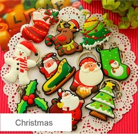 Father Christmas soft PVC rubber keyring