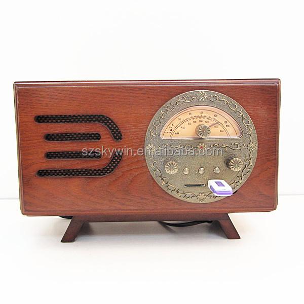 Portable Wooden Classic Radio With Alarm Clock Radios New