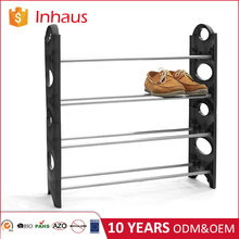Wholesale cheap custom single design easy to assemble four-layer steel plastic portable waterproof extended corner shoe rack