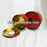 round tin can for food package