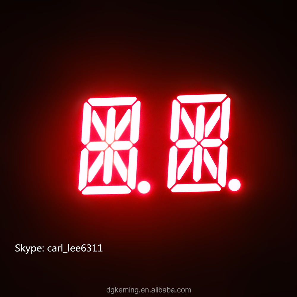 16 segment, 14 segment led Alpha numeric display 2 digit red/green/white