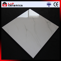 Foshan factory export designs white carrara marble tile,glazed porcelain tile
